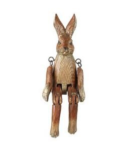 CARVED WOOD BROWN HARE